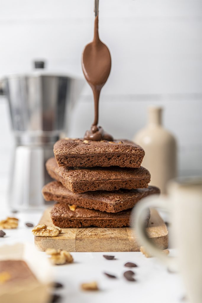 Brownie de chocolate y nocilla, La Petite Brioche
