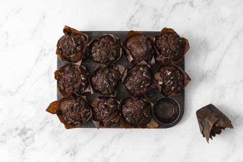 Muffins de chocolate y oreo, Magdalenas, La Petite Brioche