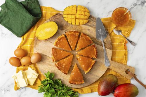Tarta de Queso con mango, La Petite Brioche