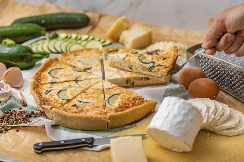 Quiche de calabacín y queso de cabra, La mejor Tarta Salada en Valencia, La Petite Brioche Valencia