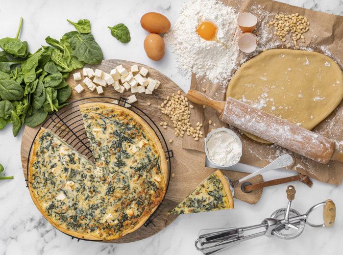 Ingredientes de Quiche de espinacas, La mejor tarta salada en Valencia, La Petite Brioche Valencia