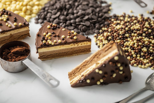 Porciones tarta tres cohocolates, La Petite Brioche